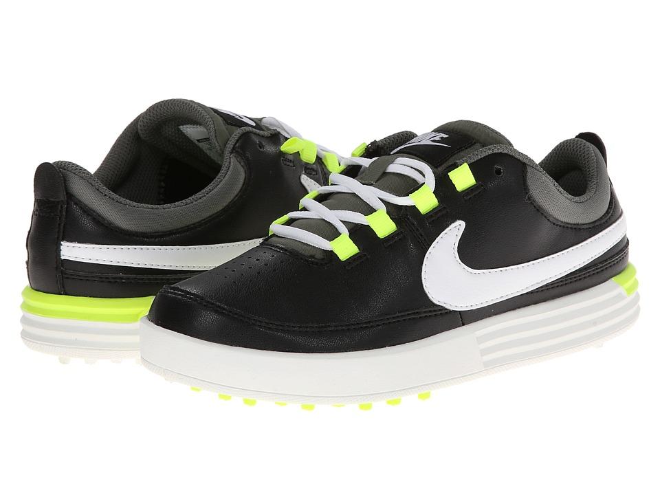 Nike Golf - Nike VT Jr. (Littlle Kid/Big Kid) (Black/White/Volt) Men's Golf Shoes