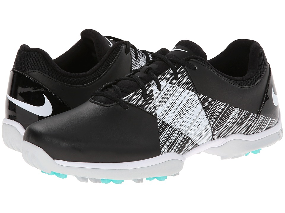 Nike Golf - Nike Delight V (Black/White/Hyper Turquoise) Women's Golf Shoes