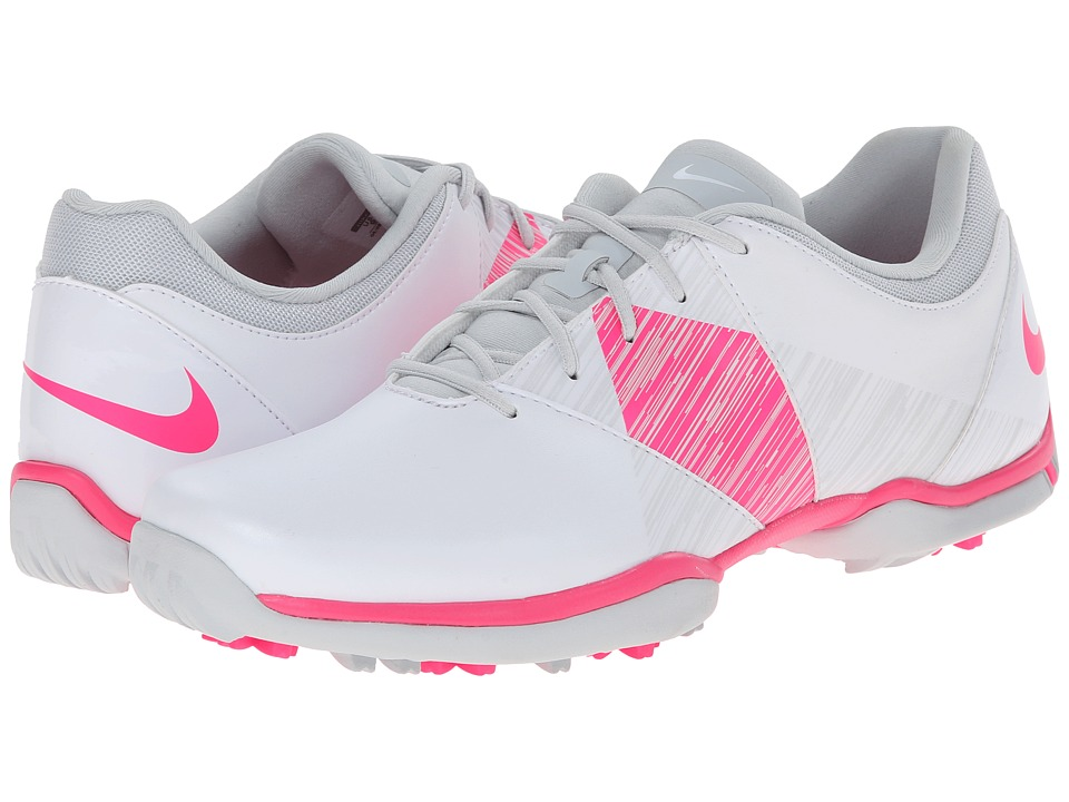 Nike Golf - Nike Delight V (White/Hyper Pink/Pure Platinum) Women's Golf Shoes