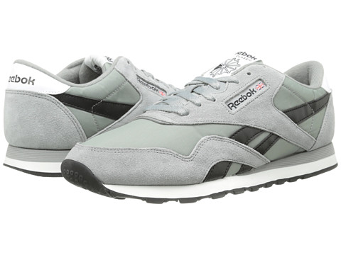 Reebok Lifestyle - Classic Nylon R13 (Flat Grey/Black/White) Men's Running Shoes