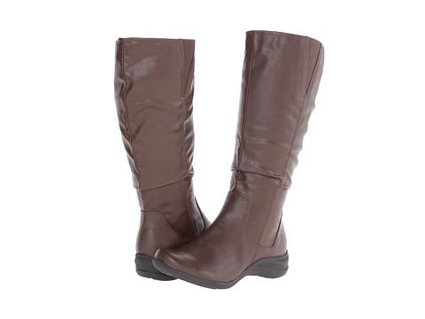 Hush Puppies - Feline Alternative Wide Calf (Dark Brown PU Wide Calf) Women's Shoes