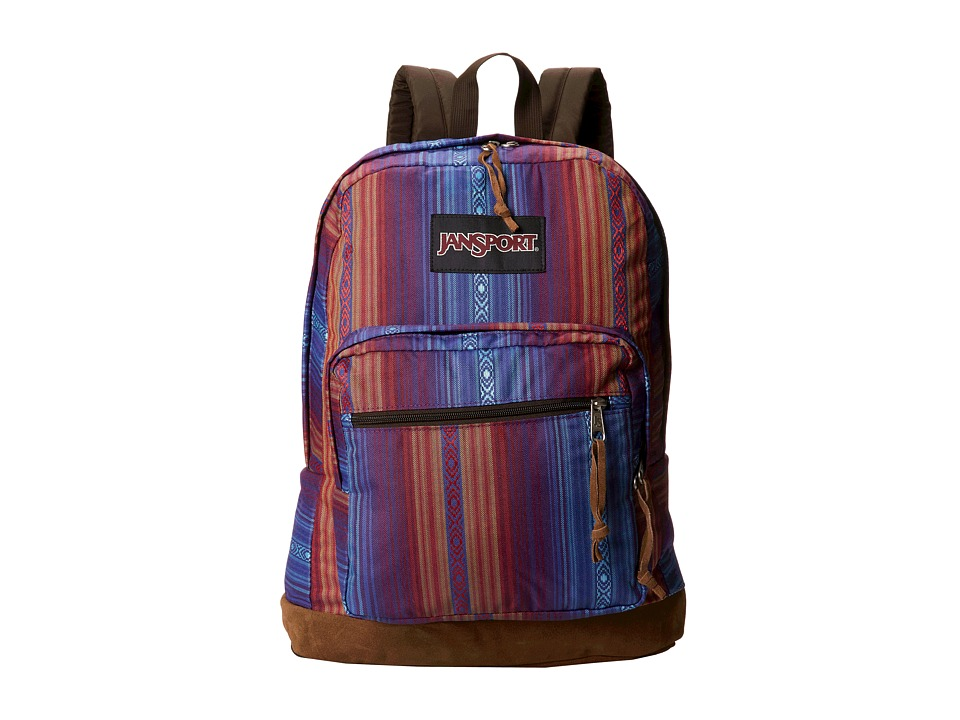 JanSport - Right Pack World (Vivid Purple Acapulco Ombre Stripe) Backpack Bags