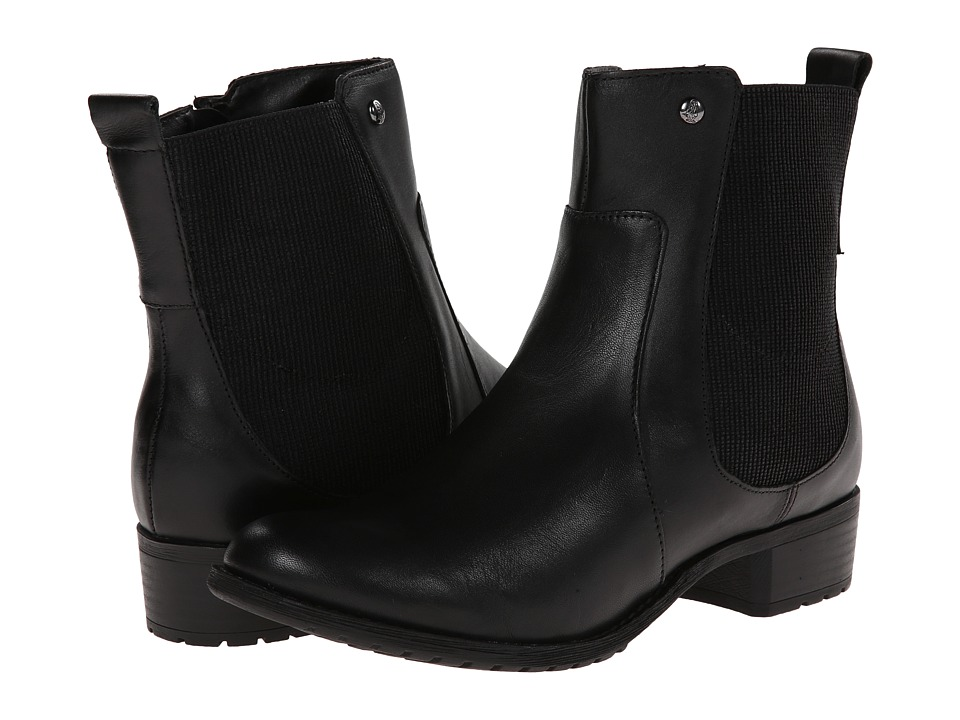 Hush Puppies - Lana Chamber (Black Leather) Women's Zip Boots