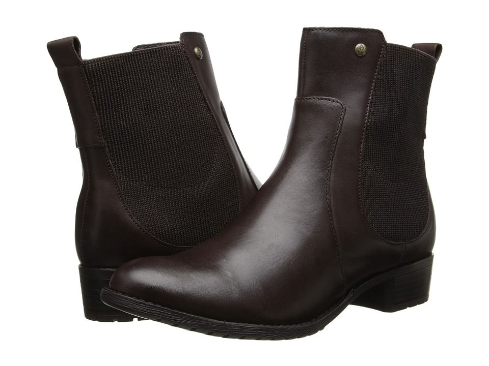 Hush Puppies - Lana Chamber (Dark Brown Leather) Women's Zip Boots