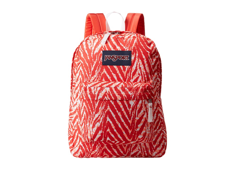 JanSport - SuperBreak(r) (Coral Peaches Wild at Heart) Backpack Bags