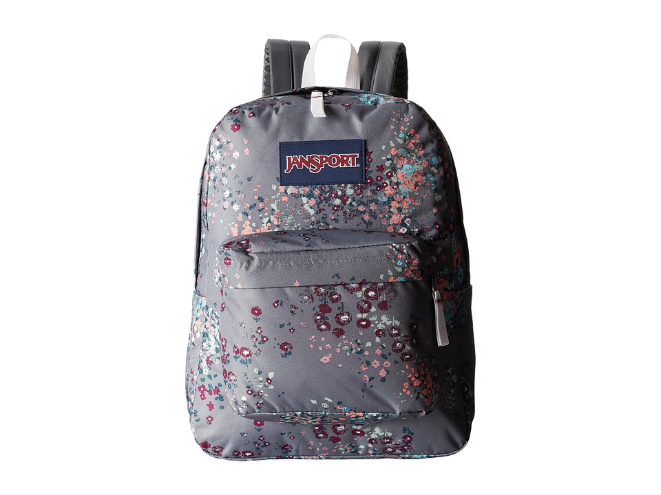 JanSport - SuperBreak (Shady Grey Sprinkled Floral) Backpack Bags