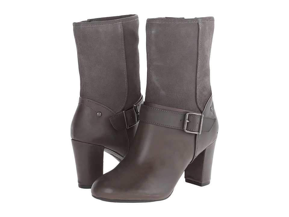 Hush Puppies - Dakota Sisany (Smoke WP Leather/Suede) Women