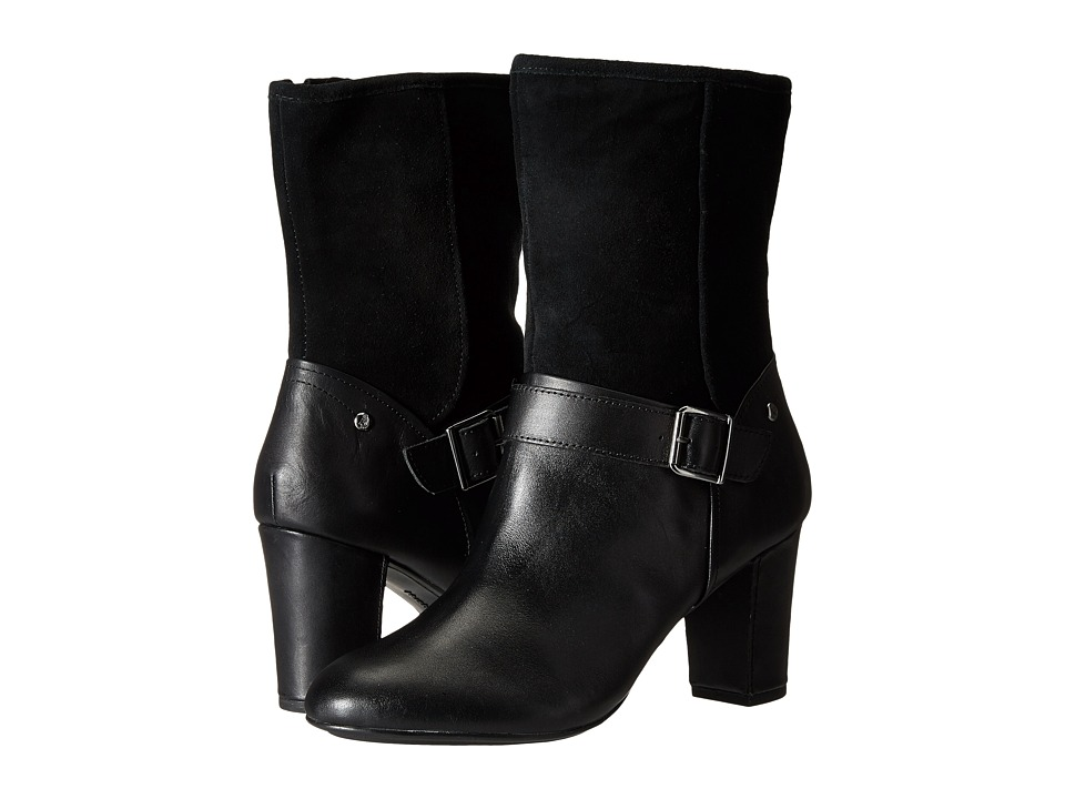Hush Puppies - Dakota Sisany (Black WP Leather/Suede) Women