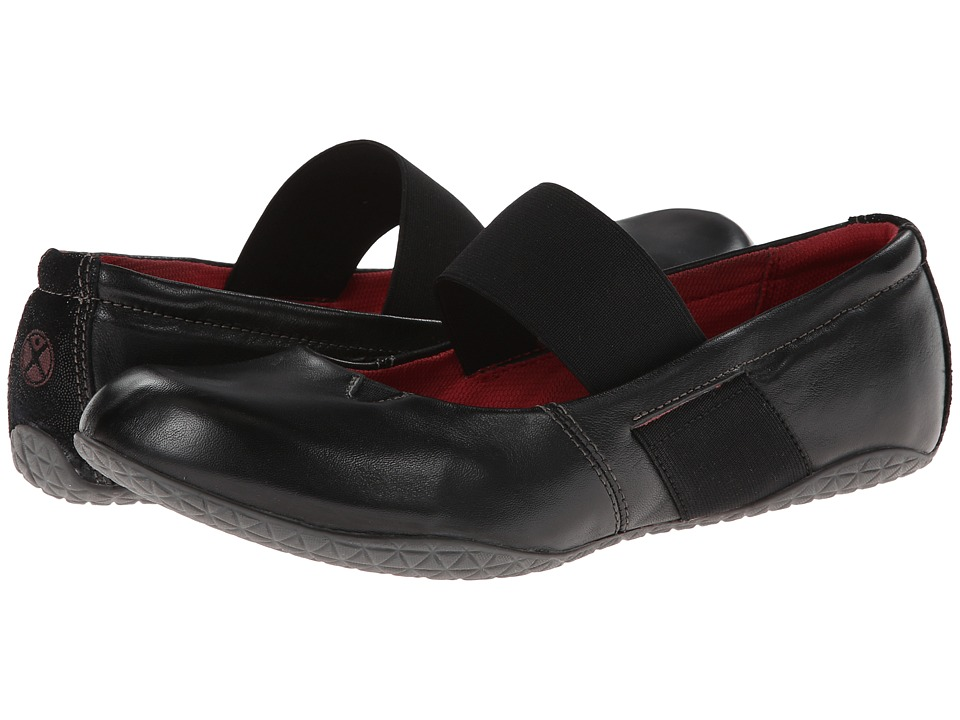 Hush Puppies - Zoe Toli (Black Leather) Women