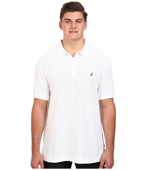 Nautica Big & Tall - Big Tall Anchor Solid Deck Shirt (Bright White) Men's Short Sleeve Pullover