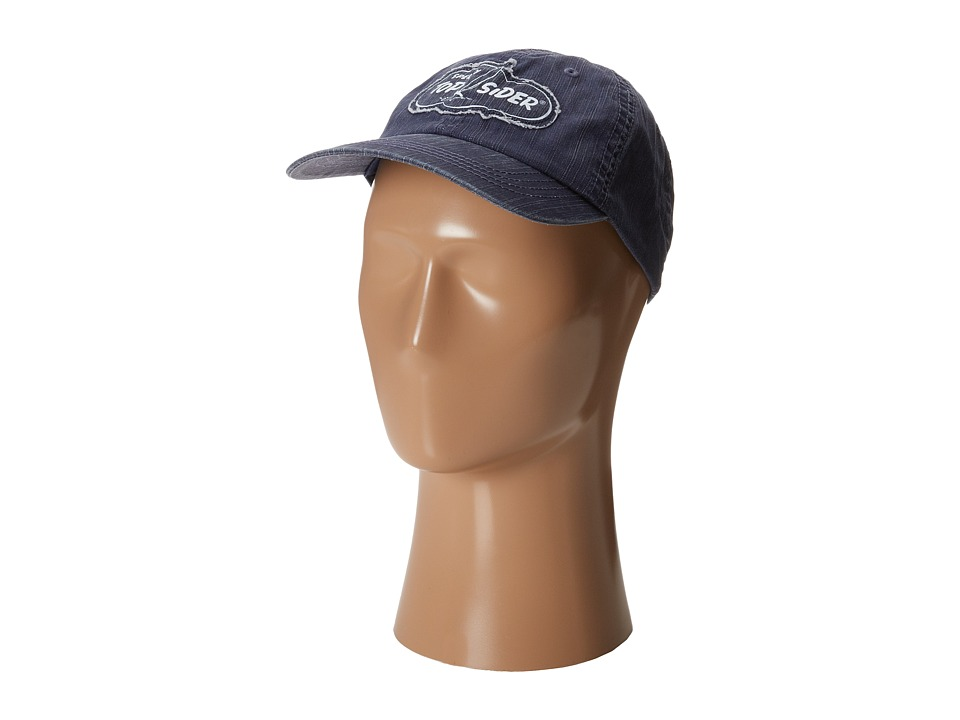 Sperry Top-Sider - Washed Herringbone Twill Cap (Navy) Caps