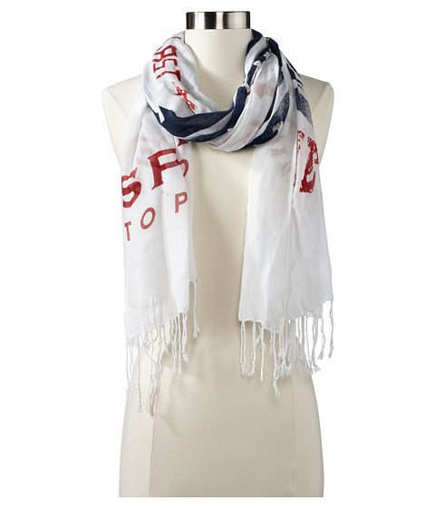 Sperry Top-Sider - Boat Shoe Scarf (Navy/Red) Scarves