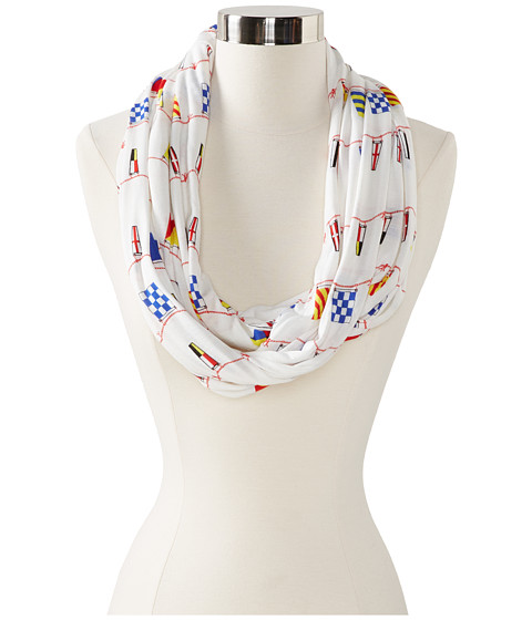 Sperry Top-Sider - Nautical Flag Pareo (White) Scarves