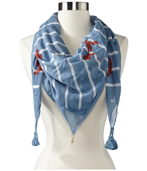 Sperry Top-Sider - Square Diagonal Stripe Anchor (Faded Denim) Scarves