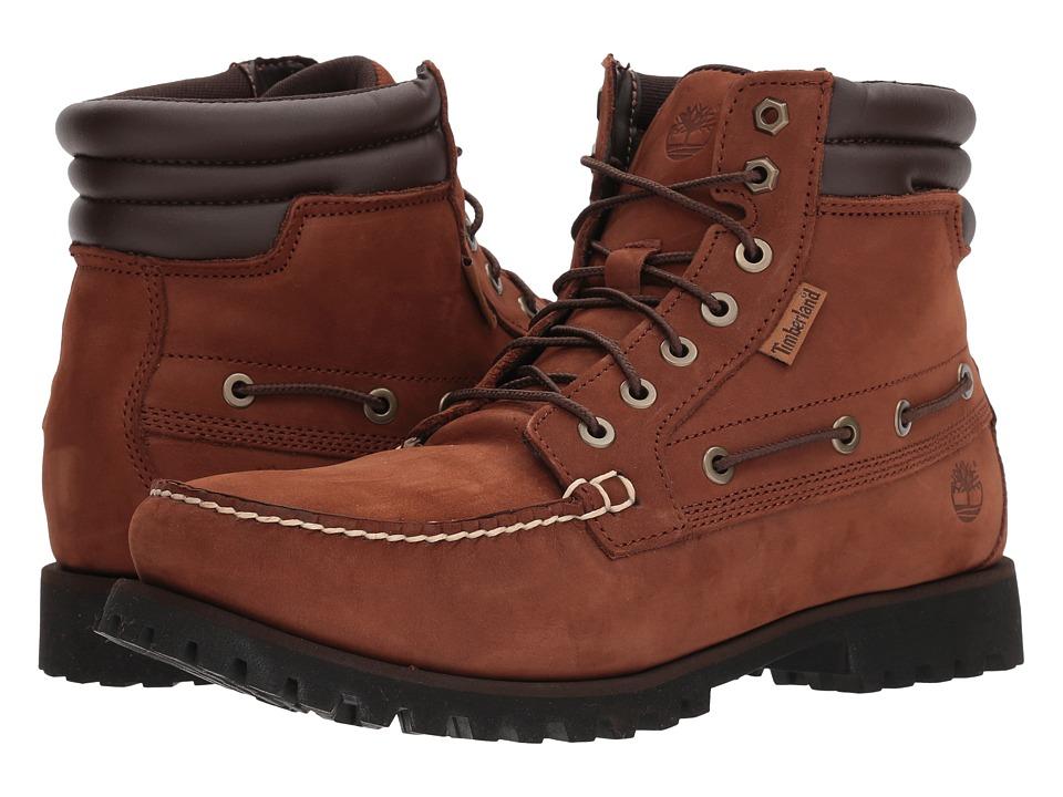 Timberland 7-Eye Moc Toe Boot (Brown) Men