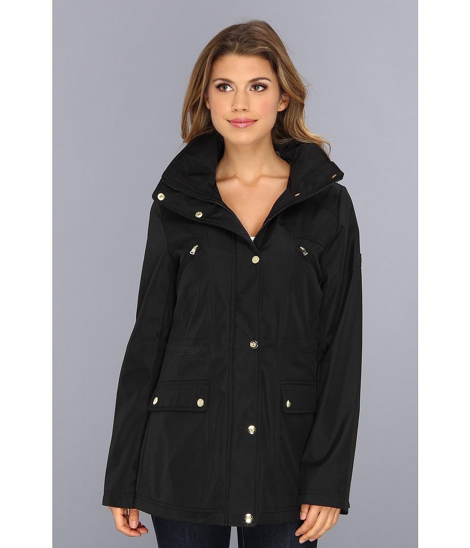 Jessica Simpson - Polybonded Anorak w/ Stowaway Hood (Black) Women's Coat