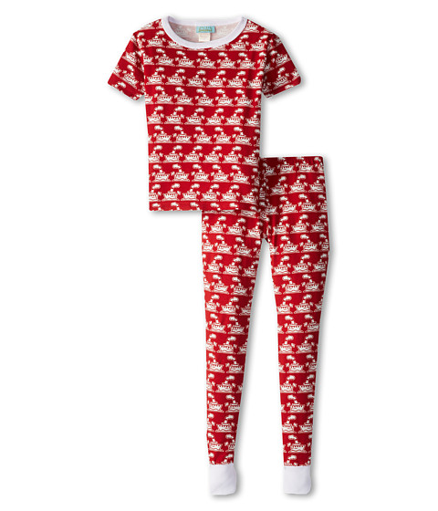 BedHead Kids - Short Sleeve Tween Snug PJ (Big Kids) (Steam Boat Red) Kid's Pajama Sets