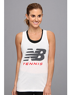 SALE! $11 - Save $9 on New Balance Big Brand Tennis Tee (White) Apparel - 45.00% OFF $20.00