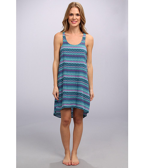 P.J. Salvage - Tropic Challes Zig Zag Sleep Dress (Turquoise) Women