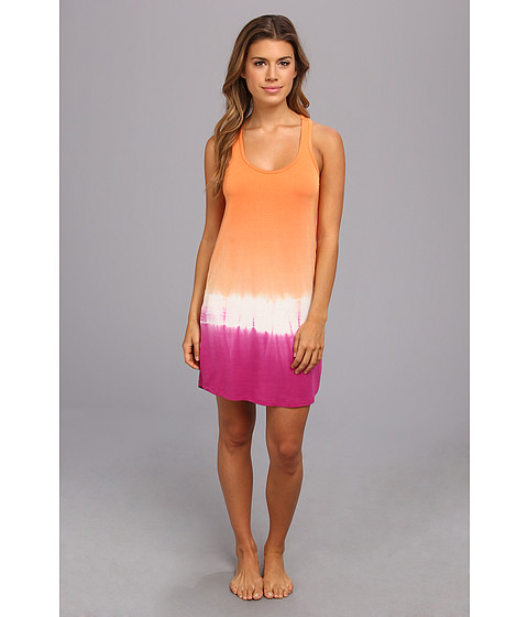 P.J. Salvage - Bali Sunset Tie Dye Sleep Dress (Tangerine) Women