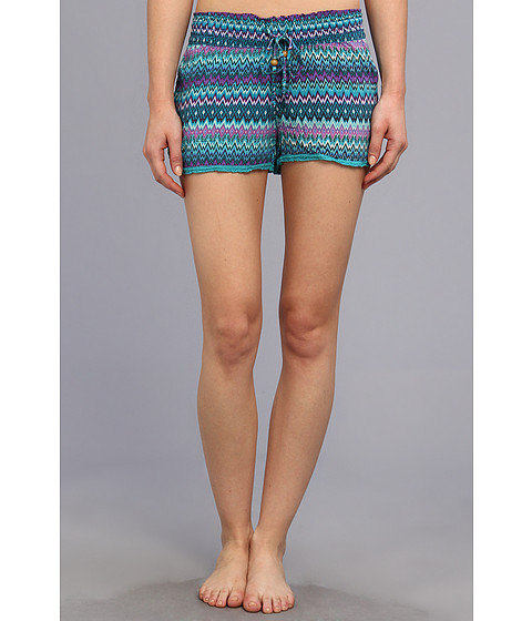 P.J. Salvage - Tropic Challes Zig Zag Sleep Short (Turquoise) Women's Pajama