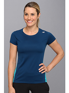 SALE! $13.75 - Save $11 on New Balance Go 2 Short Sleeve Shirt (Posiedon) Apparel - 45.00% OFF $25.00