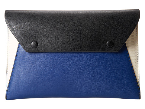 BCBGMAXAZRIA - Snake Embossed Envelope Clutch (Classic Blue Combo) Clutch Handbags