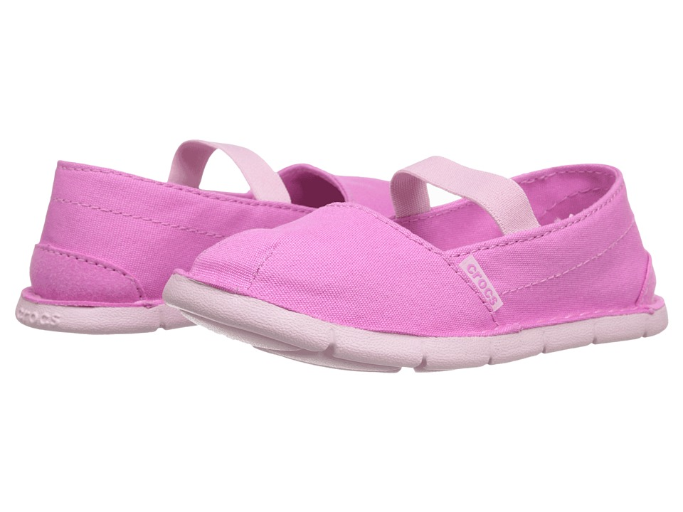 Crocs Kids - Crocs Cabo Loafer Girls PS (Toddler/Little Kid) (Party Pink/Bubblegum) Girls Shoes