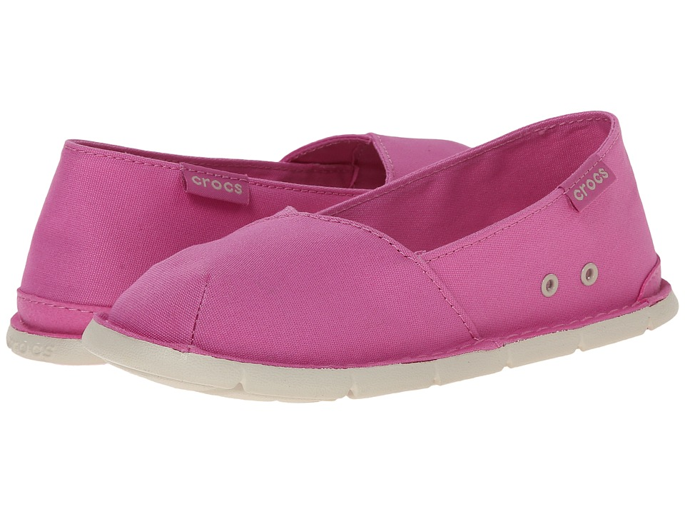 Crocs Kids - Crocs Cabo Slip-on Girls GS (Little Kid/Big Kid) (Party Pink/Stucco) Girls Shoes