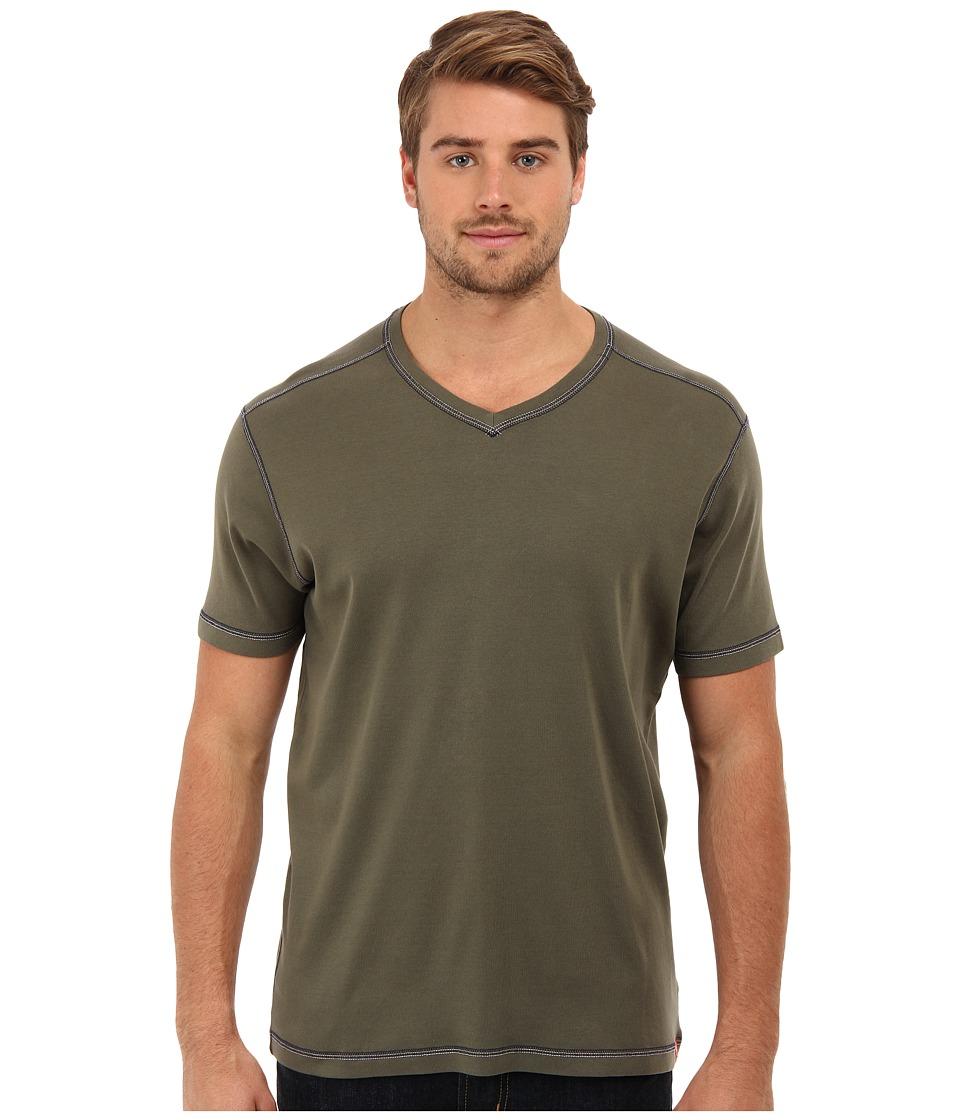 Agave Denim - D. Anderson S/S V-Neck (Grape) Men's Short Sleeve Pullover