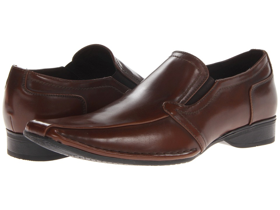 Kenneth Cole Unlisted - Vol-Can-Ic (Cognac) Men's Slip on Shoes