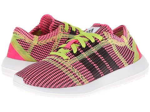adidas Kids - Element Refine Tricot C (Little Kid) (Neon Pink/Black 1/Running White Ftw) Girls Shoes