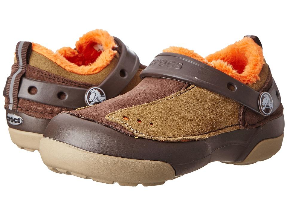 Crocs Kids - Dawson Slip-on Lined Sneaker PS (Toddler/Little Kid) (Espresso/Khaki) Boy's Shoes