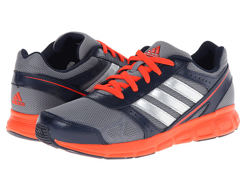 adidas Kids - Hyperfast K (Little Kid/Big Kid) (Tech Grey/Met Silver/Solar Red) Boys Shoes