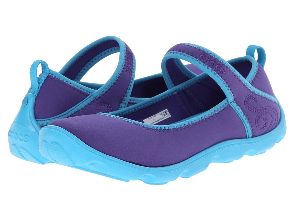 Crocs Kids - Busy Day MJ Flat Girls (Little Kid/Big Kid) (Ultraviolet/Electric Blue) Girls Shoes