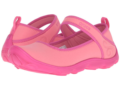 Crocs Kids - Busy Day MJ Flat Girls (Little Kid/Big Kid) (Coral/Candy Pink) Girls Shoes