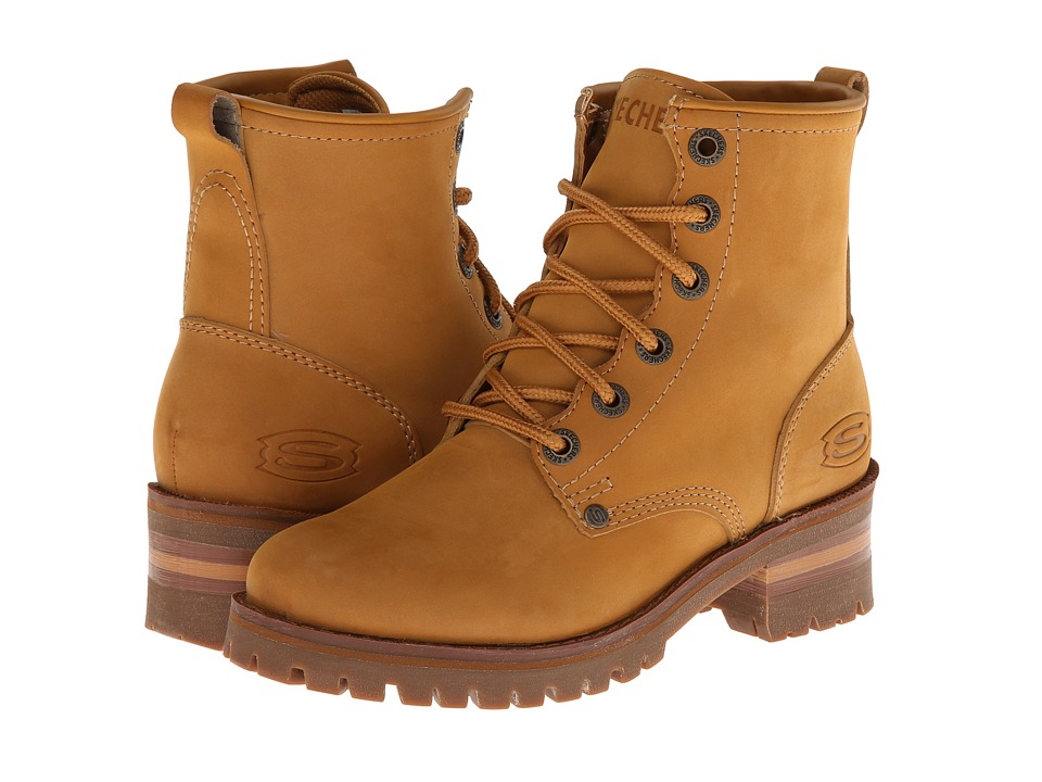 SKECHERS - Laramie 2 (Wheat) Women's Lace-up Boots