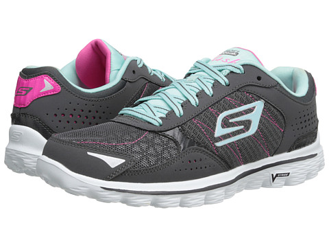 SKECHERS Performance - Go Walk 2 - Flash (Charcoal/Blue) Women