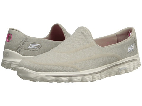SKECHERS Performance - Go Walk 2 - Supersock (Taupe) Women's Slip on Shoes