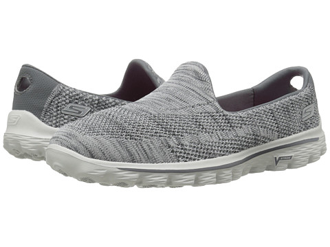 SKECHERS Performance - Go Walk 2 - Hypo (Gray) Women's Slip on Shoes