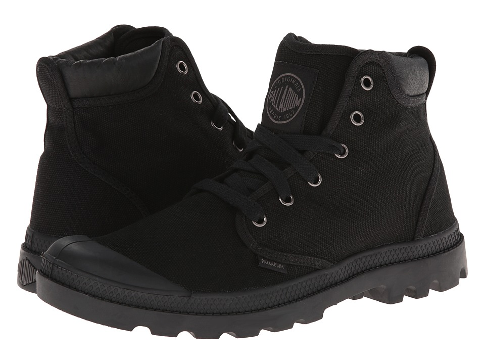 Palladium - Pampa Hi Cuff (Black/Metal) Men's Lace up casual Shoes