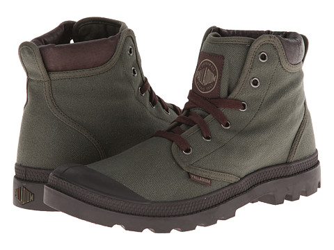 Palladium - Pampa Hi Cuff (Olive Drab/Chocolate) Men's Lace up casual Shoes