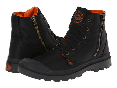 Palladium - Pampa Hi Zip MA-1 (Black/Orange) Men's Boots