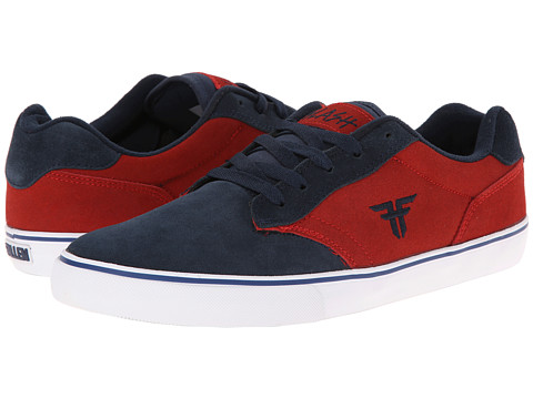 Fallen - Slash (Midnight Blue/Blood Red) Men's Skate Shoes