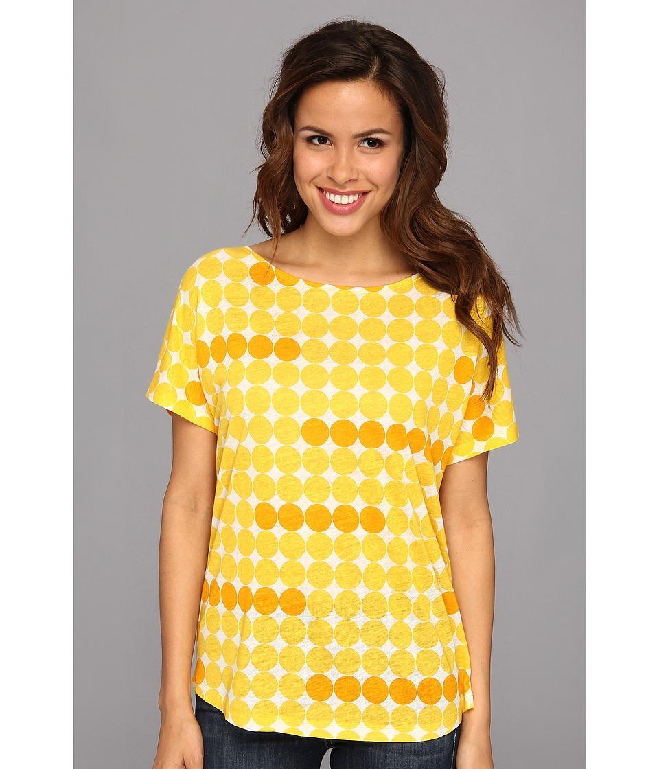 NYDJ - Edie Dot Printed Tee (Sunflower) Women's Short Sleeve Pullover