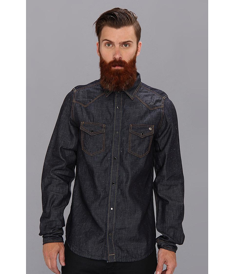 Diesel - Sonora Shirt (Denim) Men's Long Sleeve Button Up