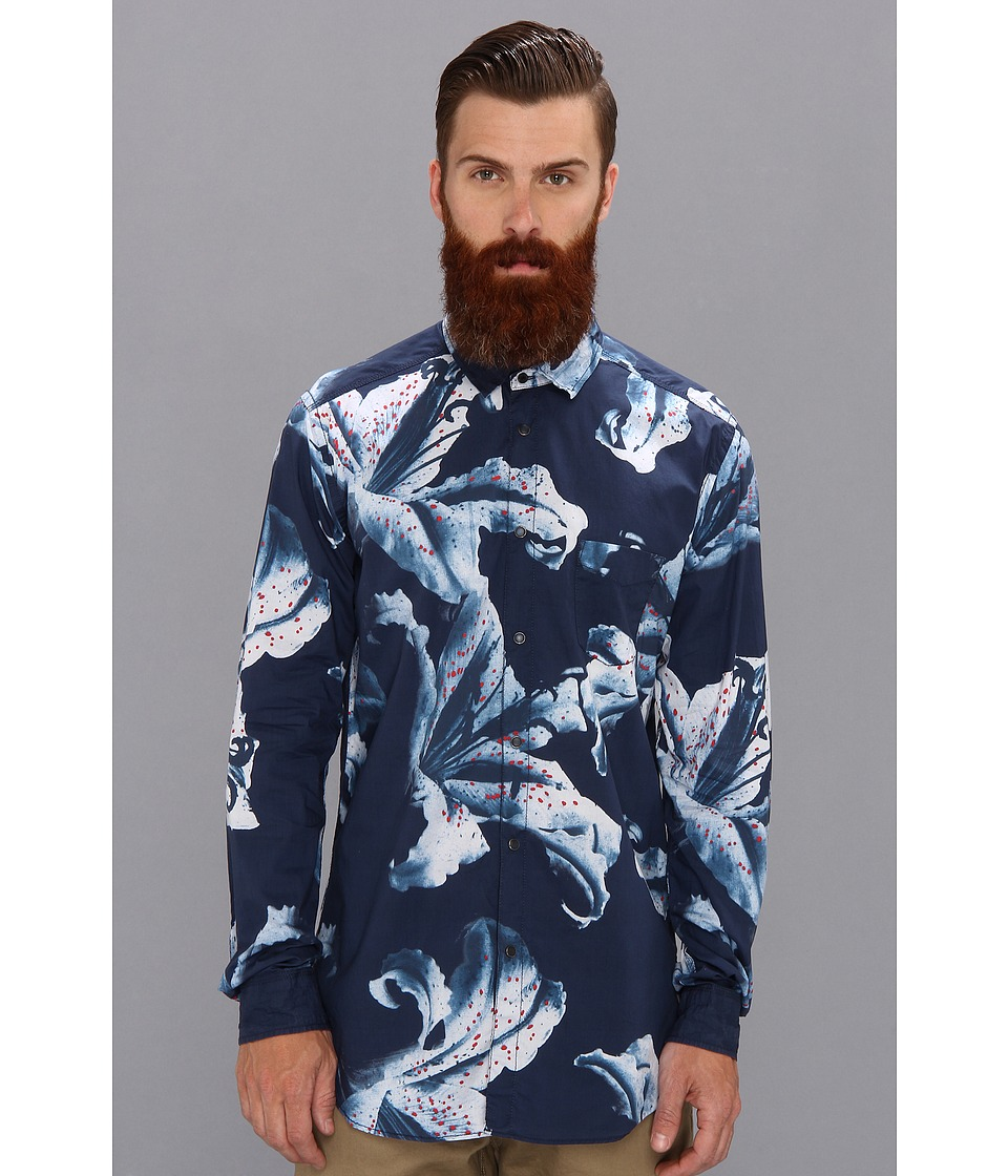 Diesel - Sulpher Shirt (Midnight/Blue) Men's Long Sleeve Button Up