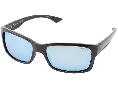 Smith Optics Dolen (Black Frame/Polar Blue Mirror Techlite Glass Lenses) Sport Sunglasses