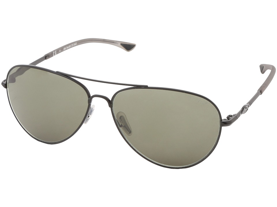 Smith Optics - Audible (Matte Black Frame/Polar Gray Green Chromapop Lenses) Sport Sunglasses