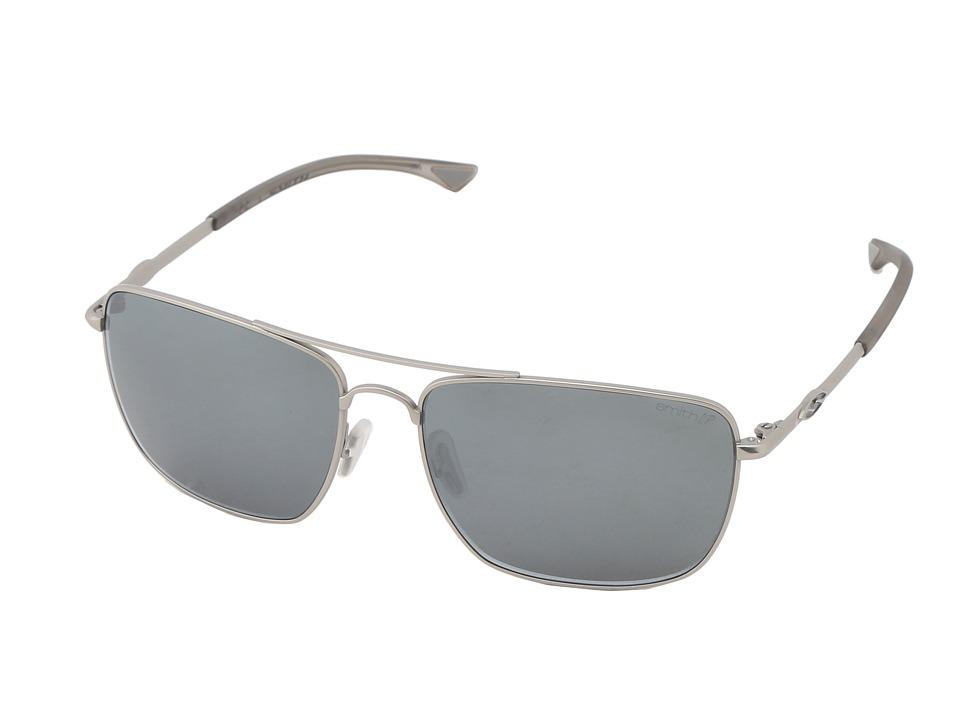 Smith Optics - Nomad (Matte Silver Frame/Polar Platinum Chromapop Lenses) Sport Sunglasses